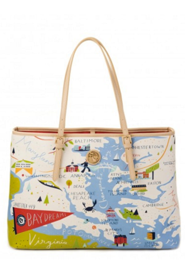 Destination Map Large Tote Bag - Bay Dreams