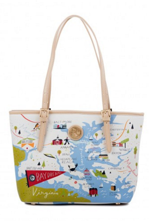 Destination Map Small Tote Bag - Bay Dreams