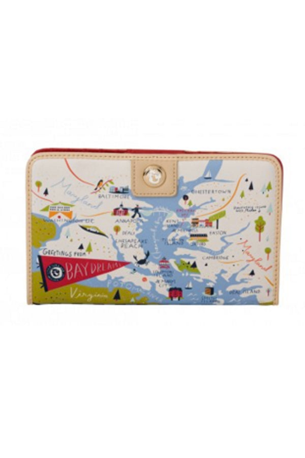 Destination Map Snap Wallet - Bay Dreams