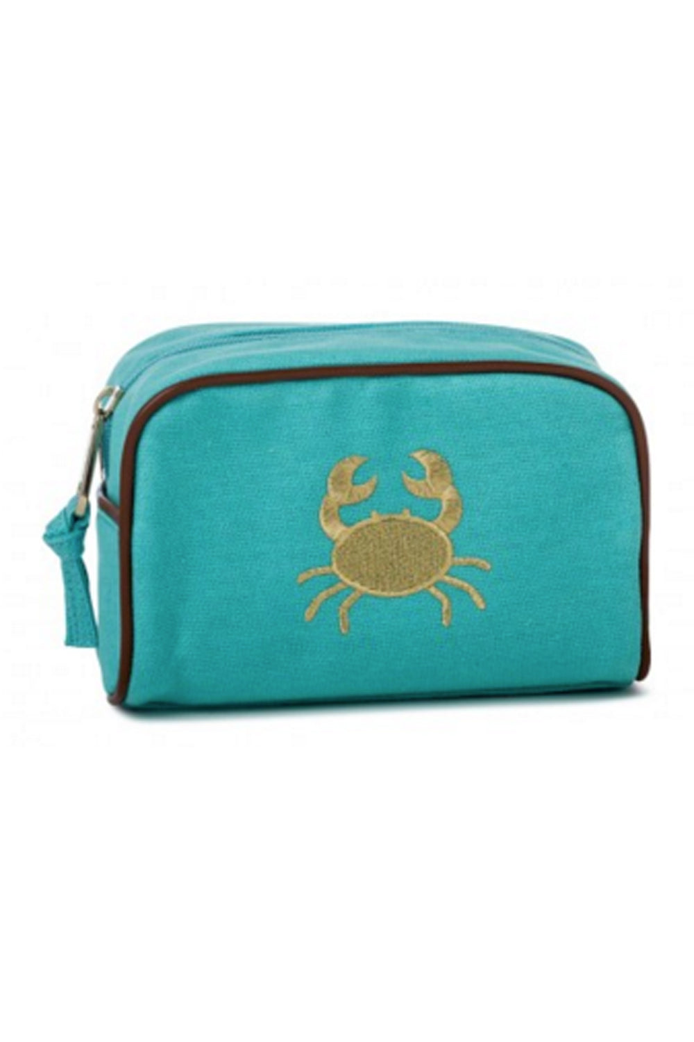 Fabric Travel Pouch - Teal Crab