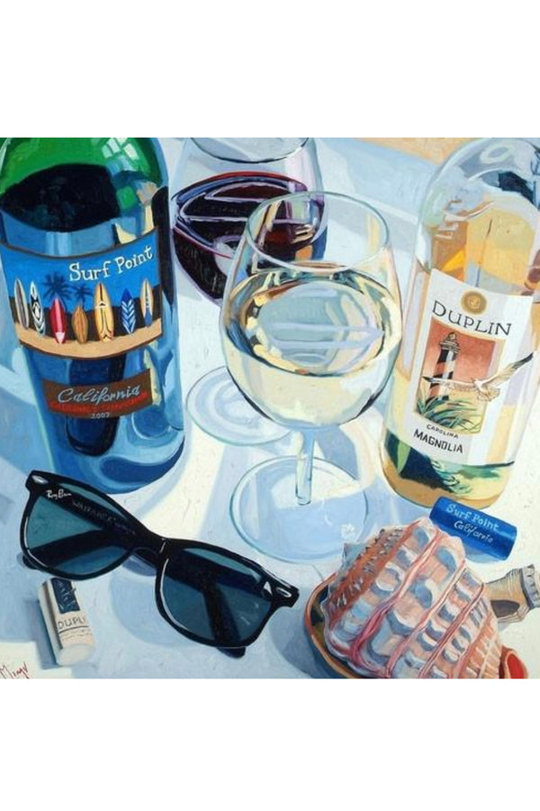 Wine Art - At The Beach