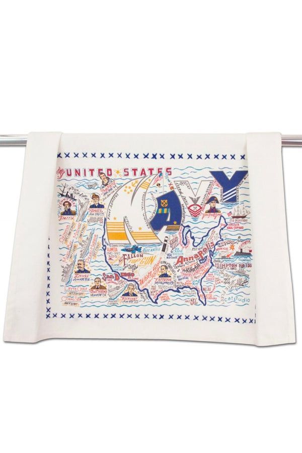 Embroidered Dish Towel  - United States Navy