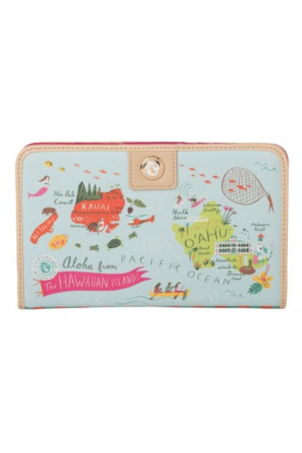 Destination Map Snap Wallet - Hawaii Islands