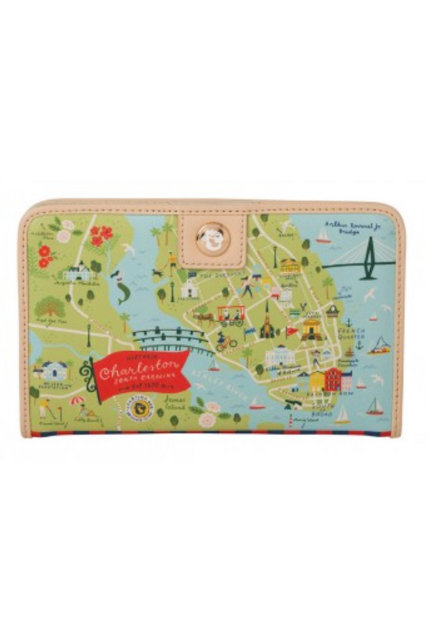 Destination Map Snap Wallet - Charleston