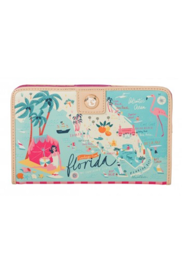 Destination Map Snap Wallet - Florida