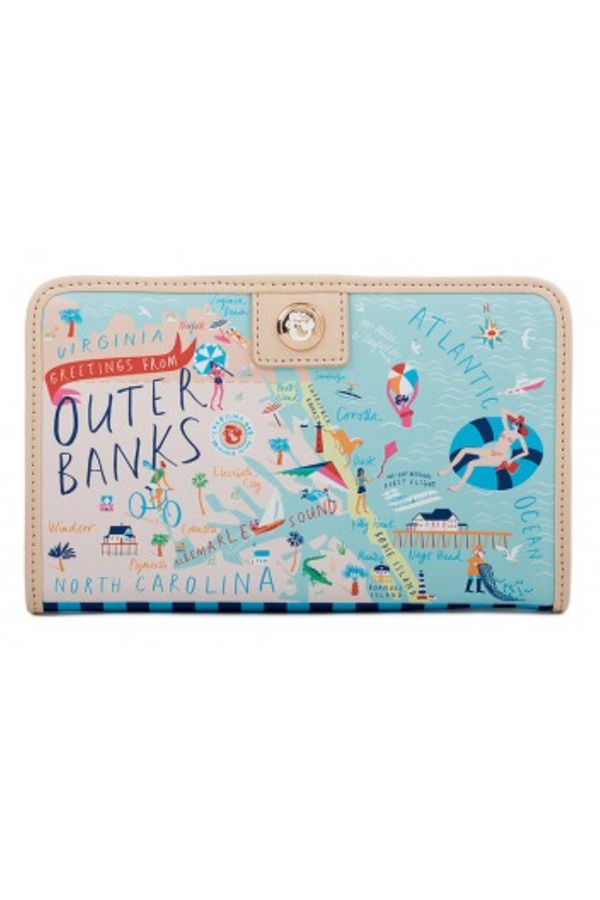 Destination Map Snap Wallet - Outer Banks
