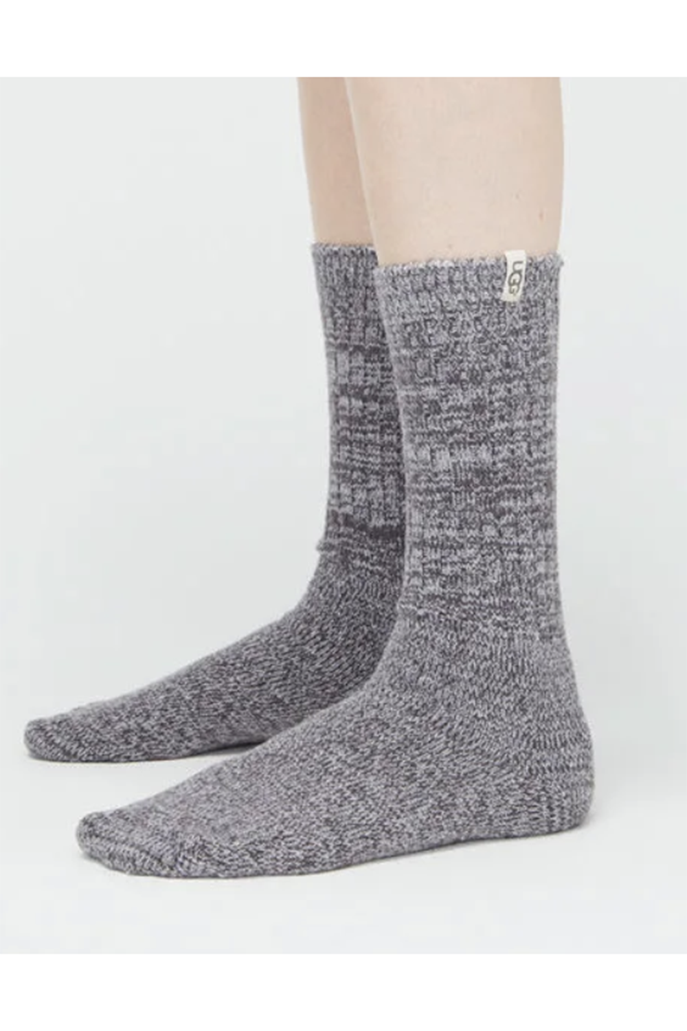 Rib Knit Slouchy Crew Sock - Nightfall