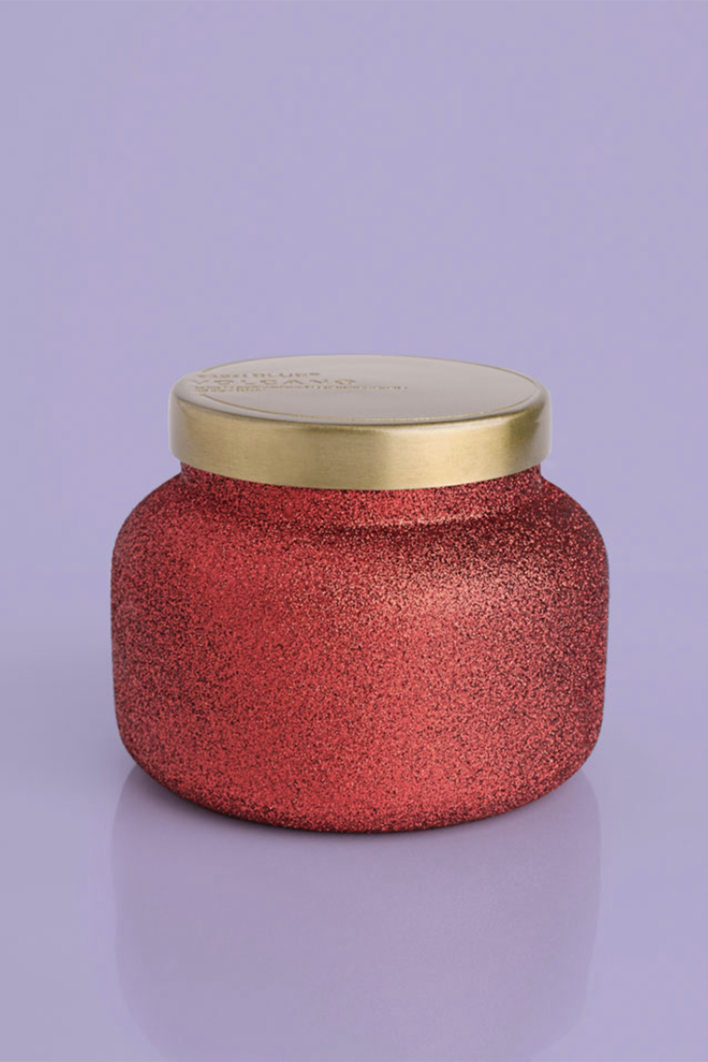 19oz Candle - Volcano Red Glitter