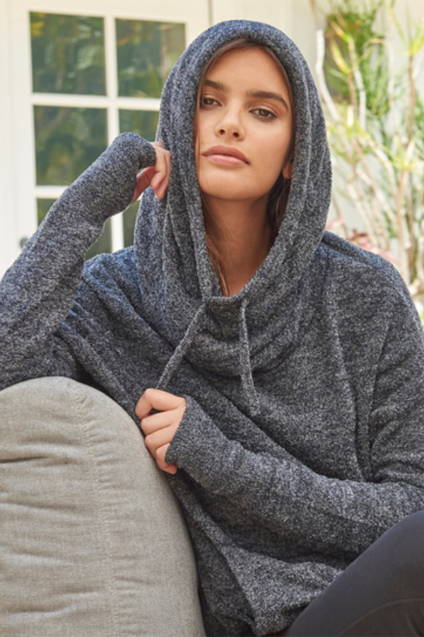 CozyChic Lite Pebble Beach Pullover - Heathered Black & Graphite
