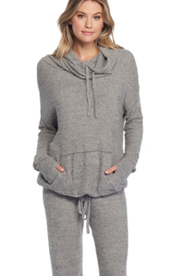 CozyChic Lite Pebble Beach Pullover - Heathered Graphite & Stone