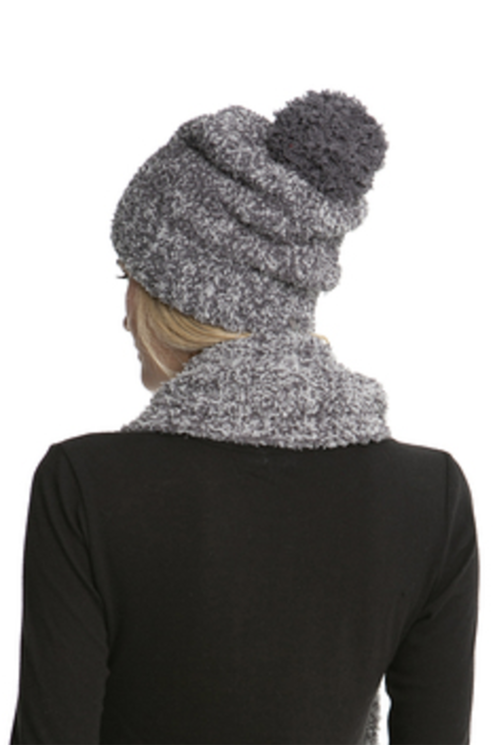 Pom Pom Heathered Beanie - Ash Dove Grey