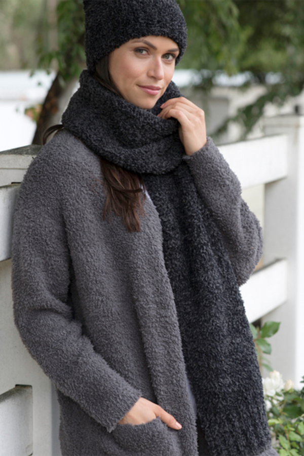 Heathered Scarf - Carbon Black