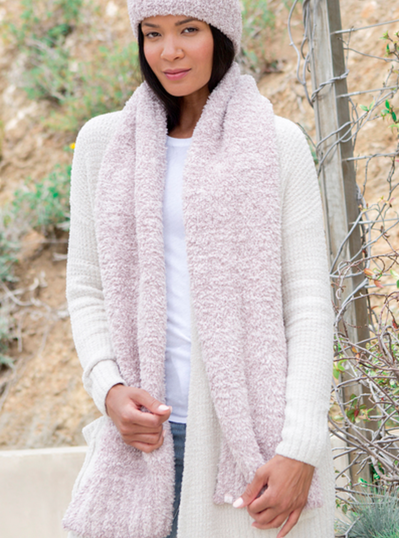 Heathered Scarf - Vintage Rose