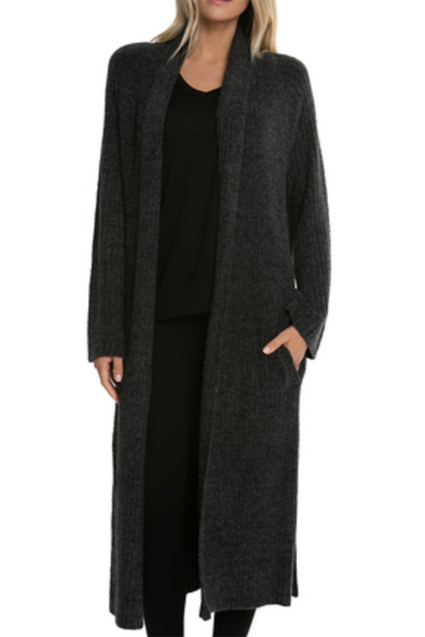 CozyChic Lite Cross Creek Cardi - Carbon/Black