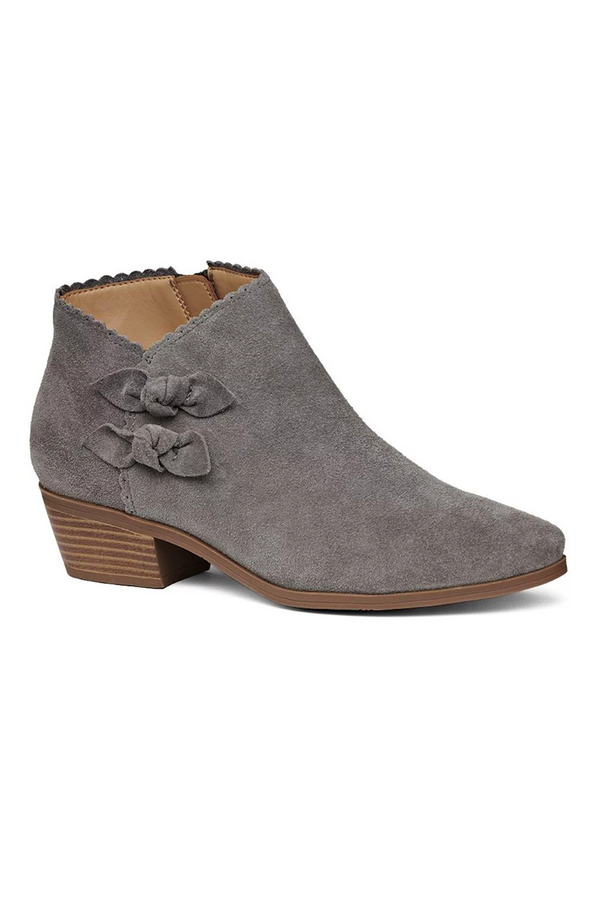 Kali Suede Bootie - Charcoal