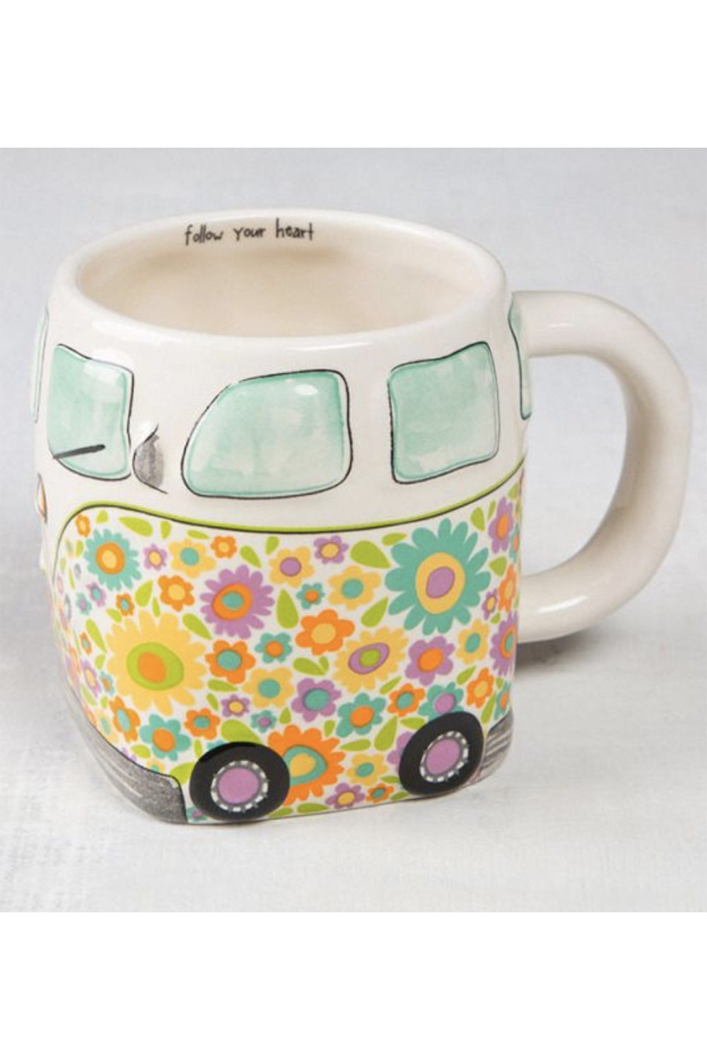 Folk Critter Mug - Yellow Van