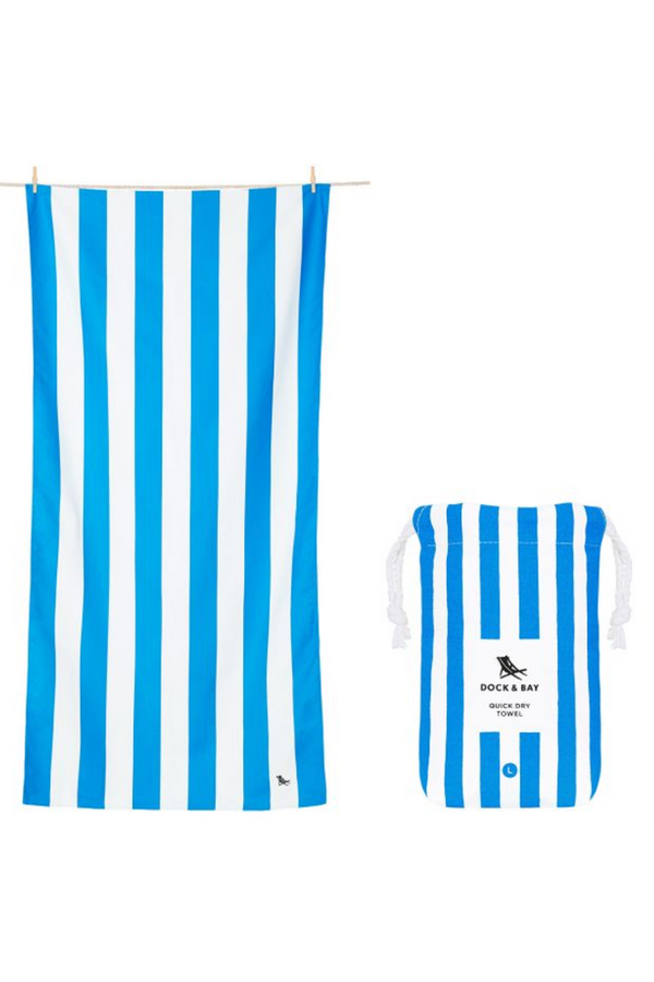 Quick Dry Cabana Beach Towel - Bondi Blue