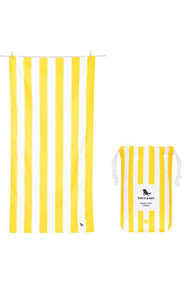 Quick Dry Cabana Beach Towel - Boracay Yellow