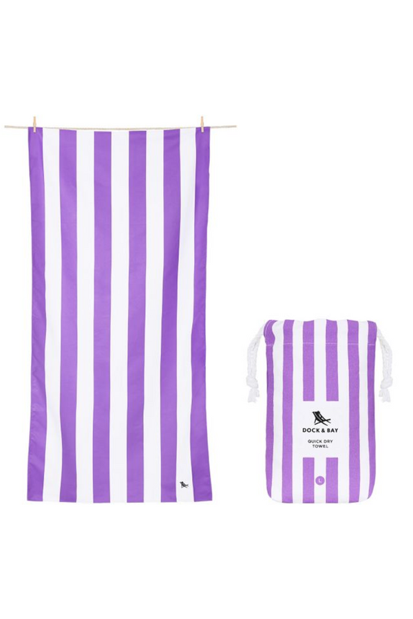 Quick Dry Cabana Beach Towel - Brighton Purple