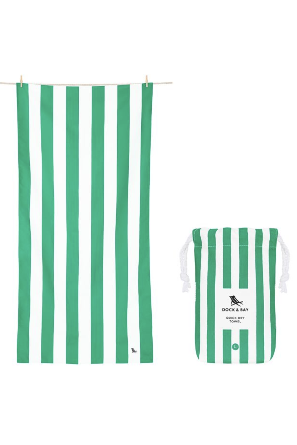 Quick Dry Beach Towel - Cancun Green