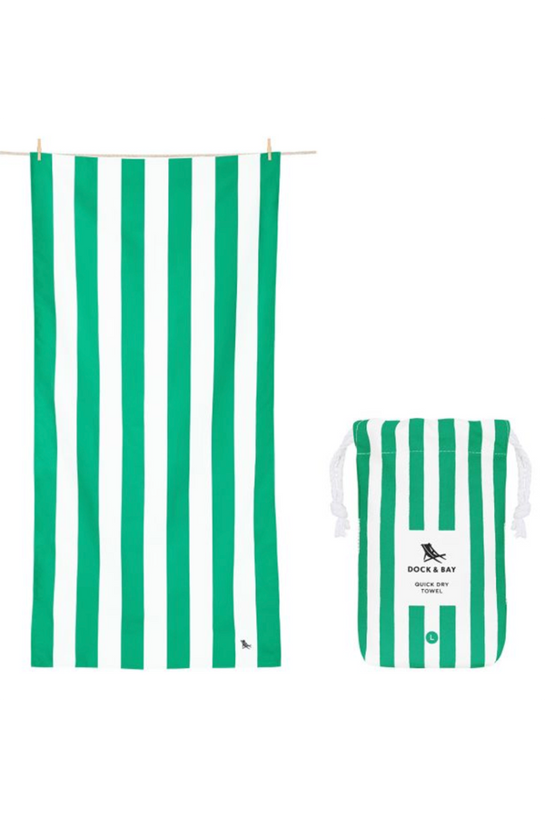 Quick Dry Cabana Beach Towel - Cancun Green