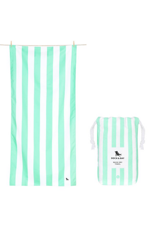 Quick Dry Cabana Beach Towel - Narabeen Green