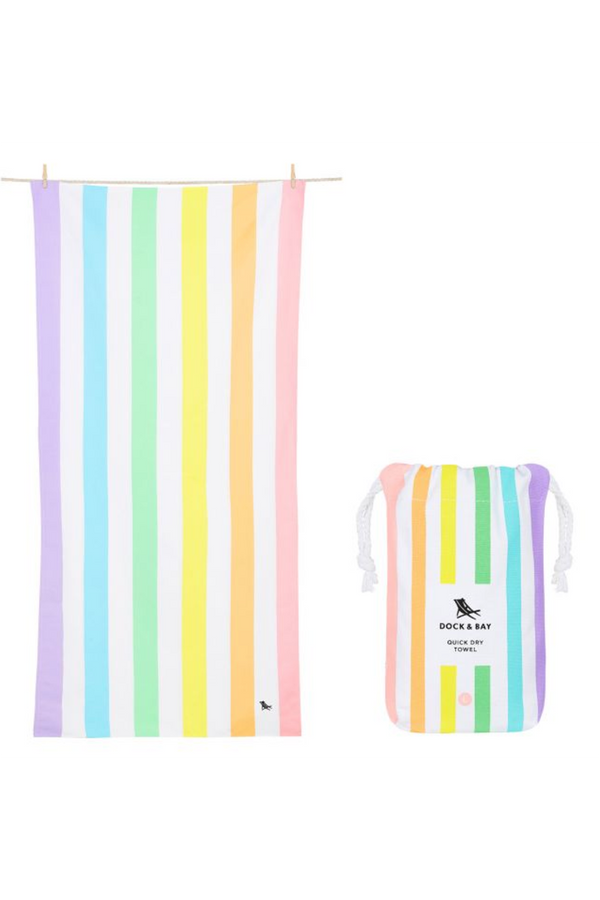Quick Dry Cabana Summer Beach Towel - Unicorn Waves