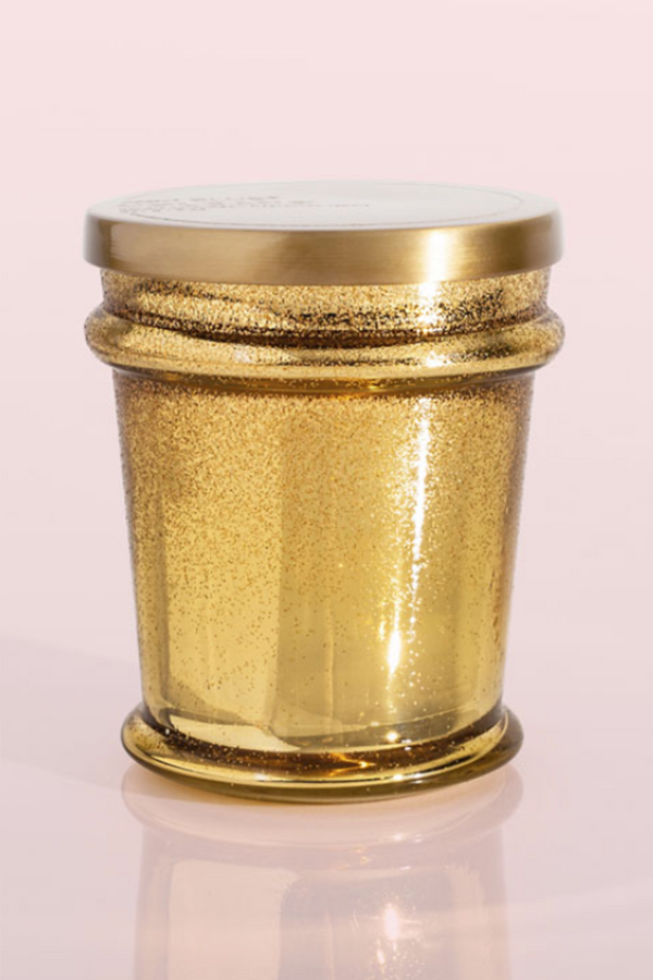 Signature Found Glass Candle - Volcano Gold Glitter