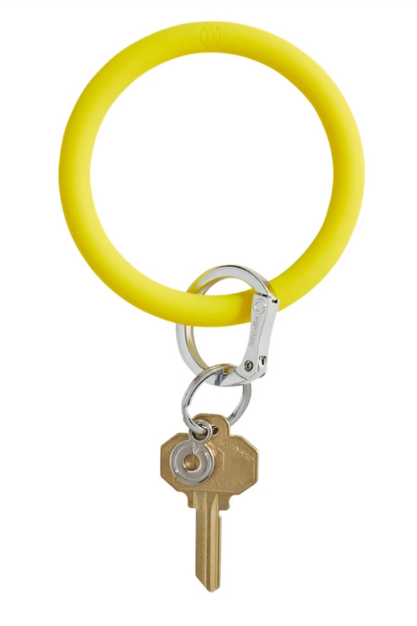 The BIG O Key Ring *Silicone* - Yes Yellow