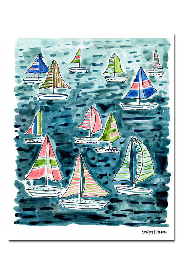 EVH Framed Print - Seas the Day Sailboats