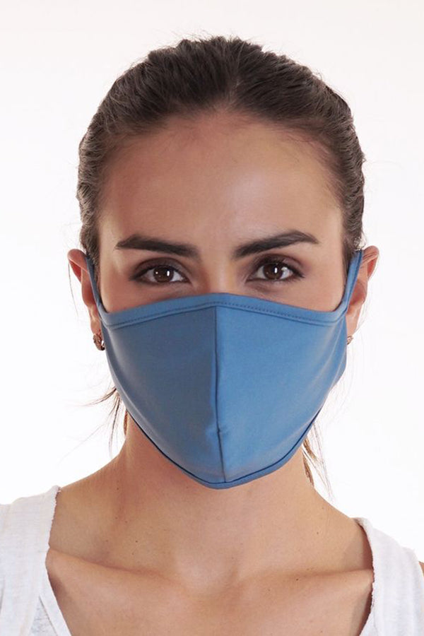 Reversible Face Mask - Plain Blue