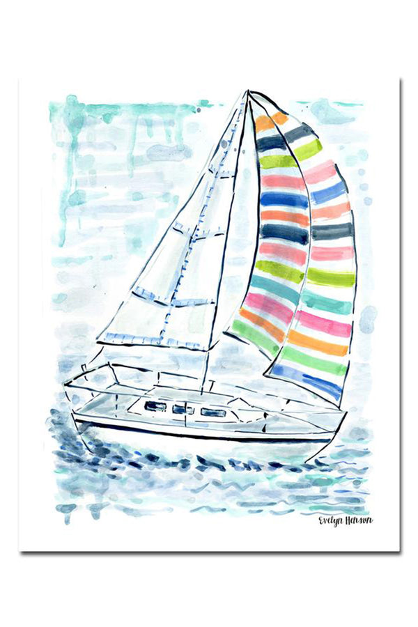 EVH Framed Print - Splash of Color Sailboat