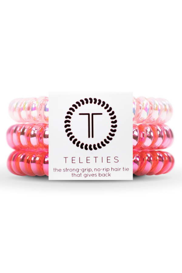 Teleties Hair Ties - Think Pink