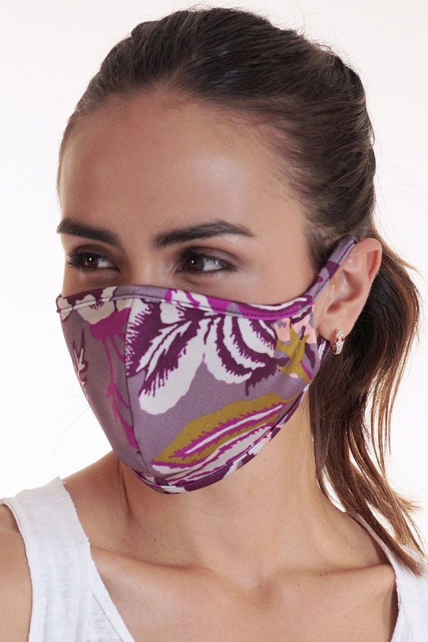 Reversible Face Mask - Plum Floral