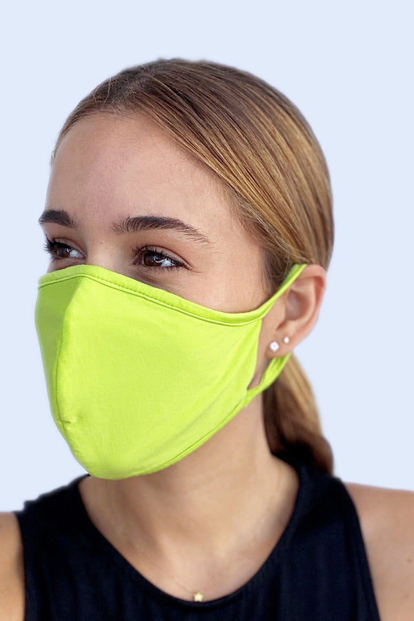 Reversible Face Mask - Solid Limeade