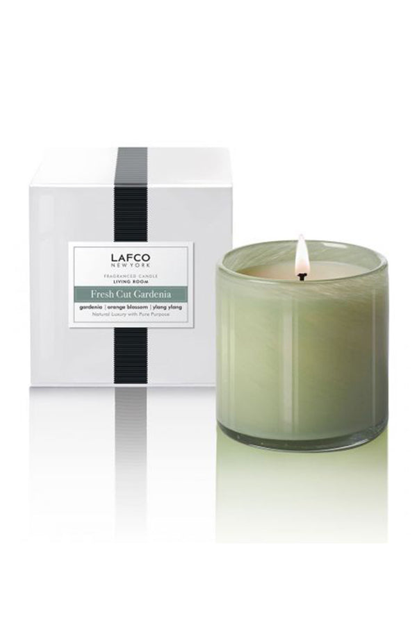 "Lafco Candle - ""Living Room""  Fresh Cut Gardenia"