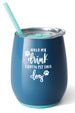 Exclusive Modern Stemless Wine Tumbler - Denim