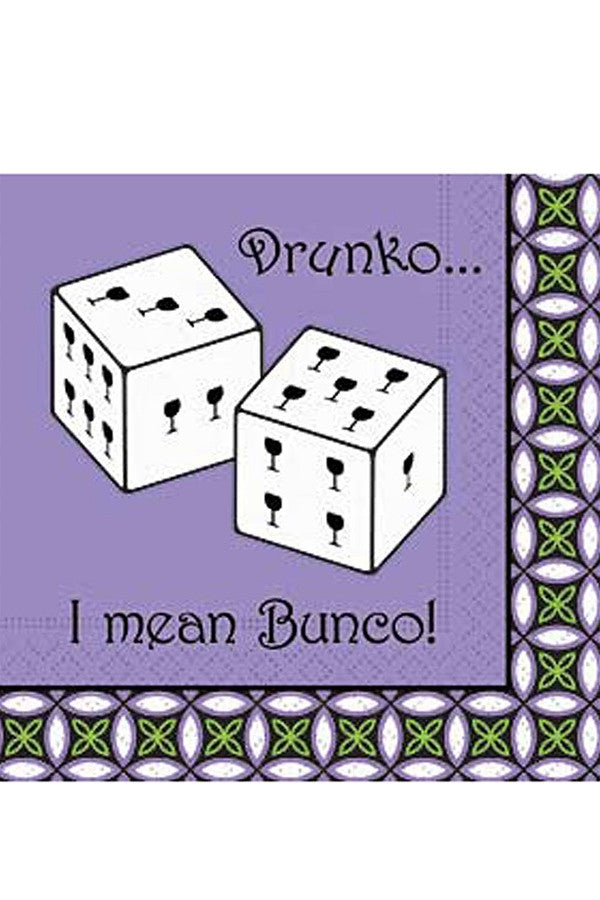 "Napkins - ""Drunko...I Mean Bunko!"""