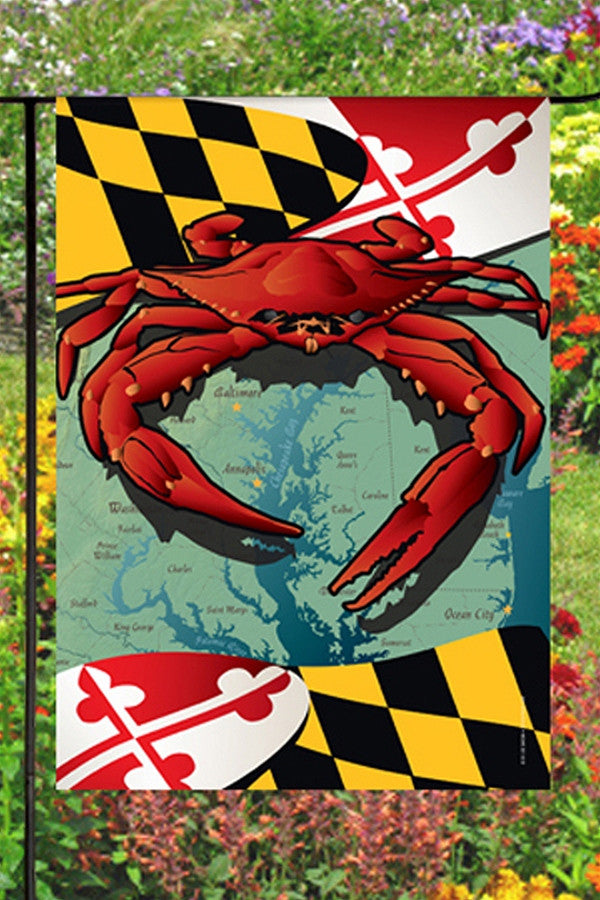 Small Garden Flag - Maryland Crab