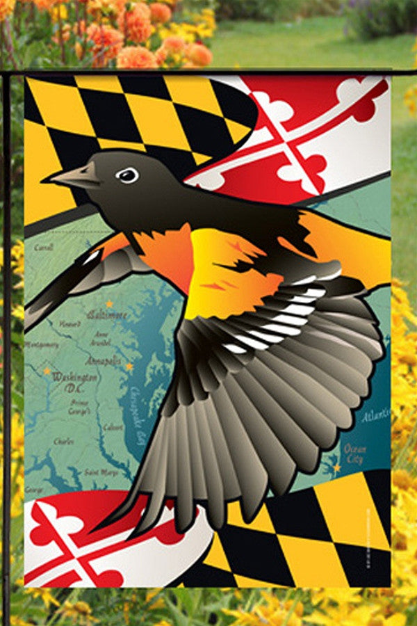 Small Garden Flag - Maryland Oriole