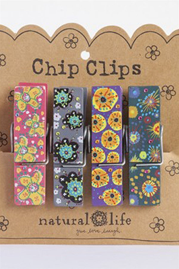 Chip Clip Set - Multi Funky Patterns