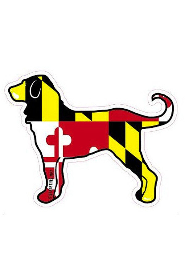 Large Sticker - Maryland Flag Dog