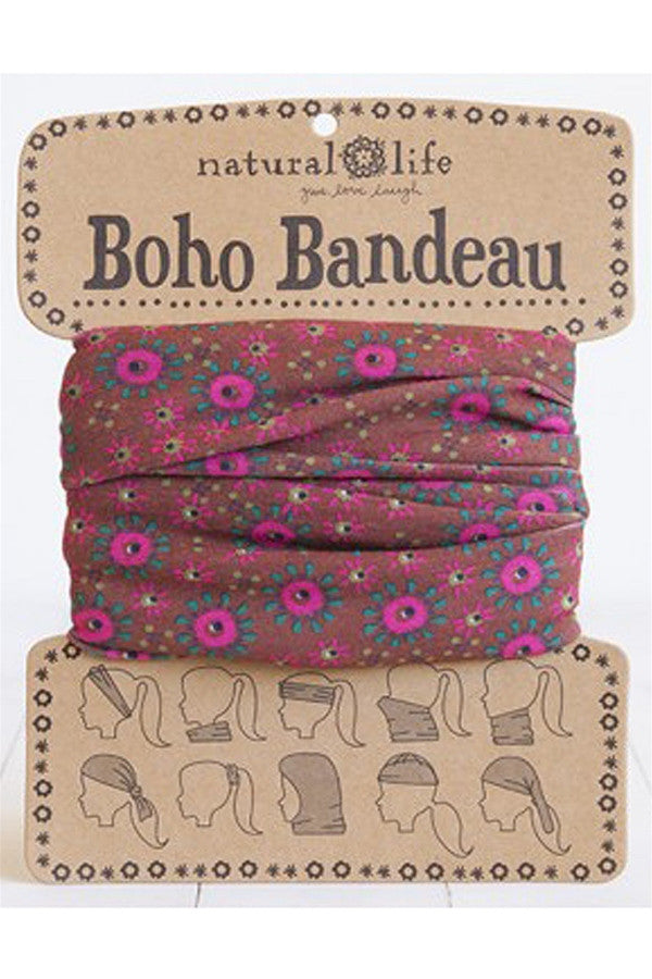 Boho Bandeau - Dark Orange & Pink