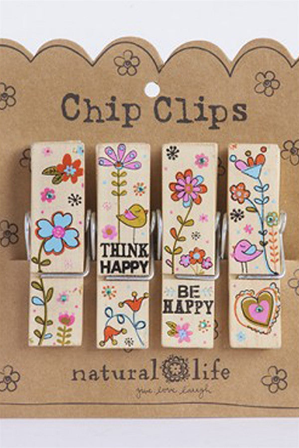 Chip Clip Set - Think Happy Be Happy