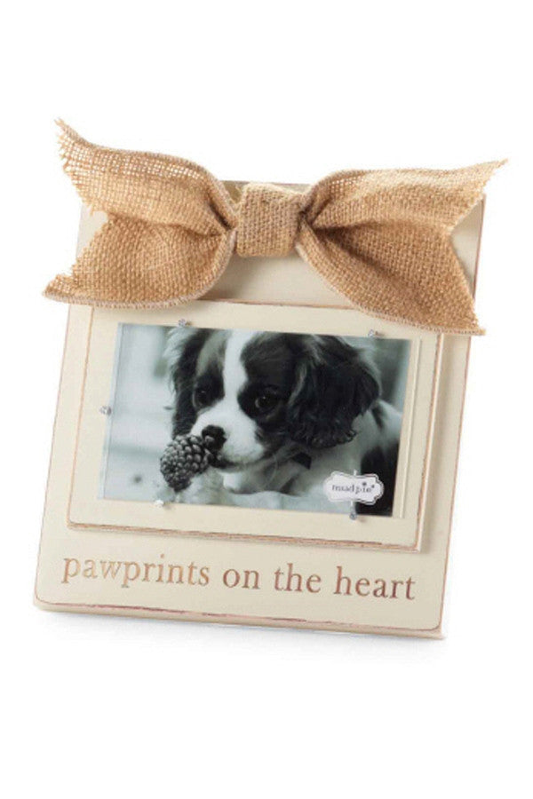 Cream Wood Frame 4x6 - Pawprints on the Heart