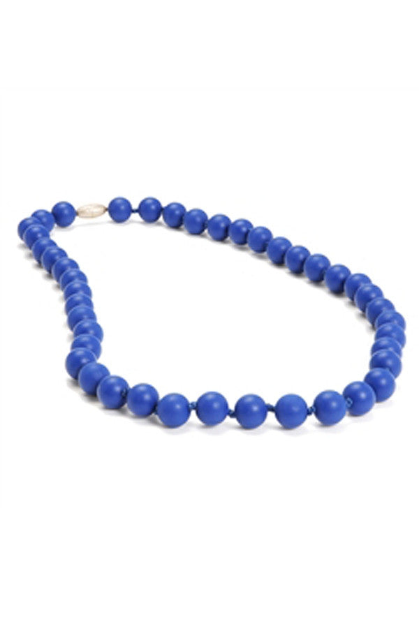 Jane Baby Teething Necklace - Cobalt Blue