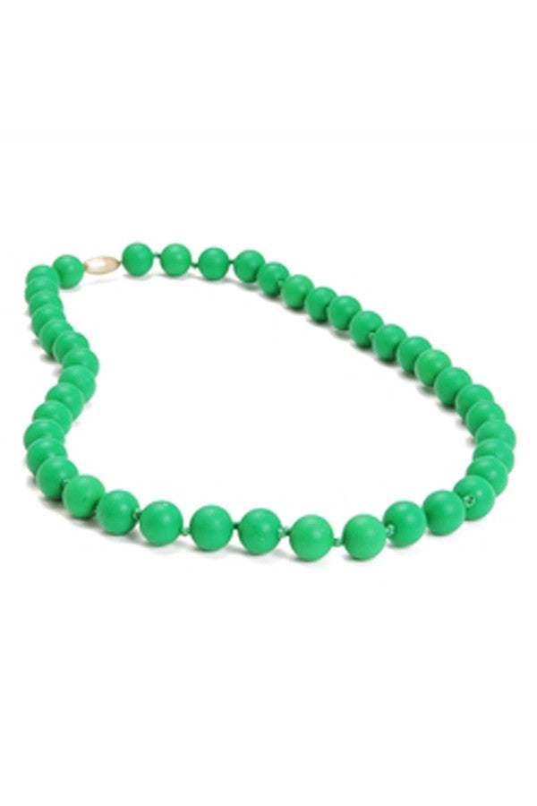 Jane Baby Teething Necklace - Emerald Green