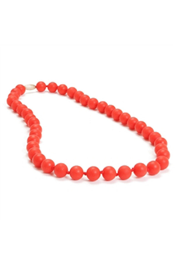 Jane Baby Teething Necklace - Cherry Red