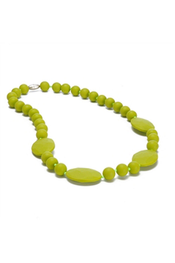 Perry Baby Teething Necklace - Chartreuse Lime Green