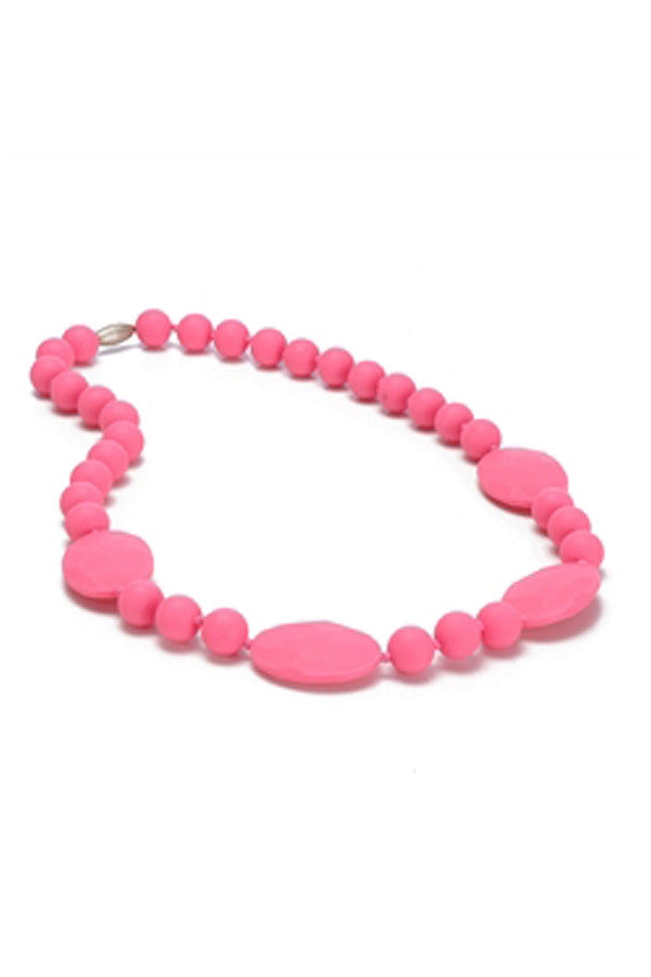 Perry Baby Teething Necklace - Punchy Pink